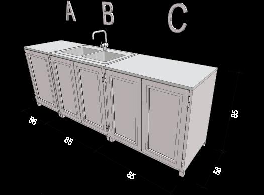 Sommerküche Module : Sommerküchen alu petrič